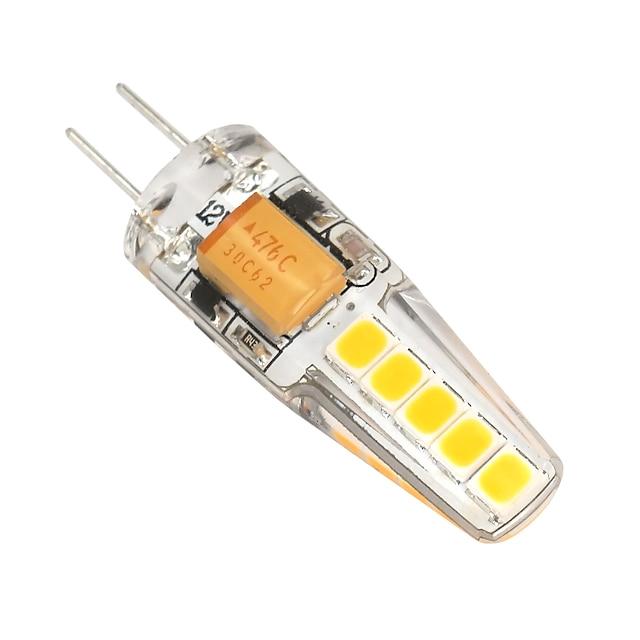 2 W LED2本ピン電球 180-200 lm G4 T 10 LEDビーズ SMD 2835 調光可能 温白色 クールホワイト 12 V / # / 1個