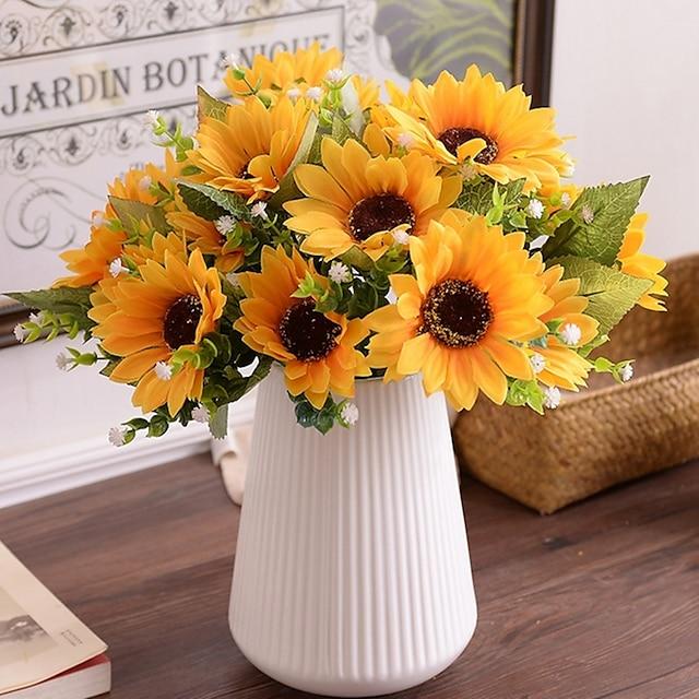 Silk Pastoral Style Tabletop Flower 1 Bouquet 30cm
