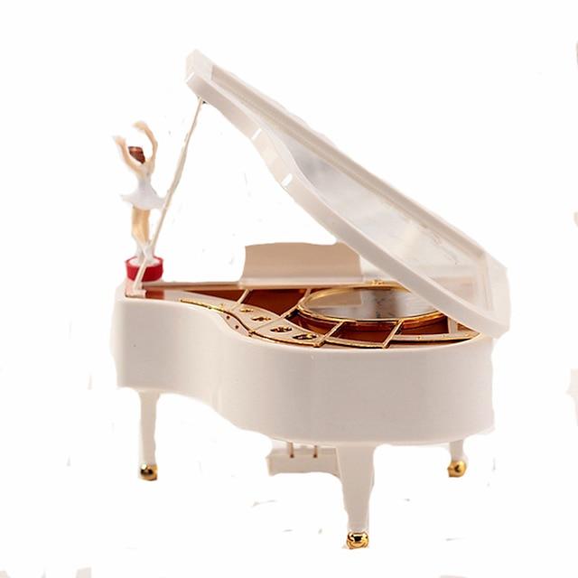 Musikk boksen Ballerina Musikkboks Musikkboksdanser Piano Unik Tre Dame Unisex Jente Barne Voksen Avgangsgaver gaver Leketøy Gave