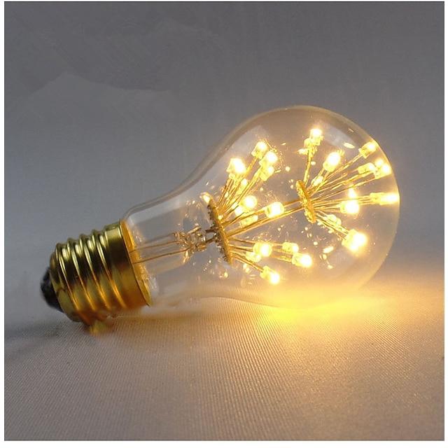 1 stuk 3 W LED-gloeilampen 200-300 lm E26 / E27 A60 (A19) 30 LED-kralen SMD Decoratief Sterrenhemel Warm wit 85-265 V / 1 stuks / RoHs / CE