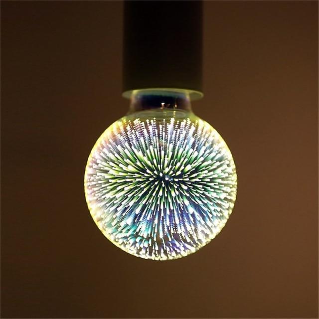 1pc 6 w led globe bulbs led filament bulbs 500 lm e26 / e27 g95 35 led beads integrate led διακοσμητικό starry 3d starburst multi-colors 85-265 v / rohs / ce certified