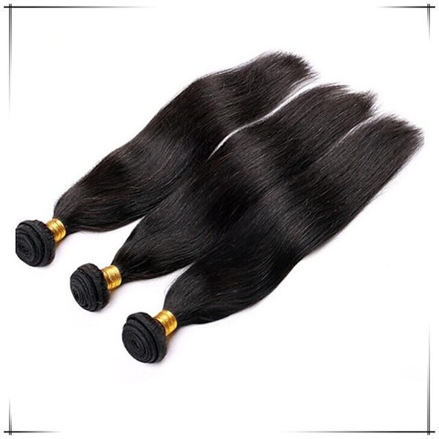 Brasilianskt hår Rak Kroppsvågor Äkta hår Human Hår vävar Hårförlängning av äkta hår Människohår förlängningar / Korta