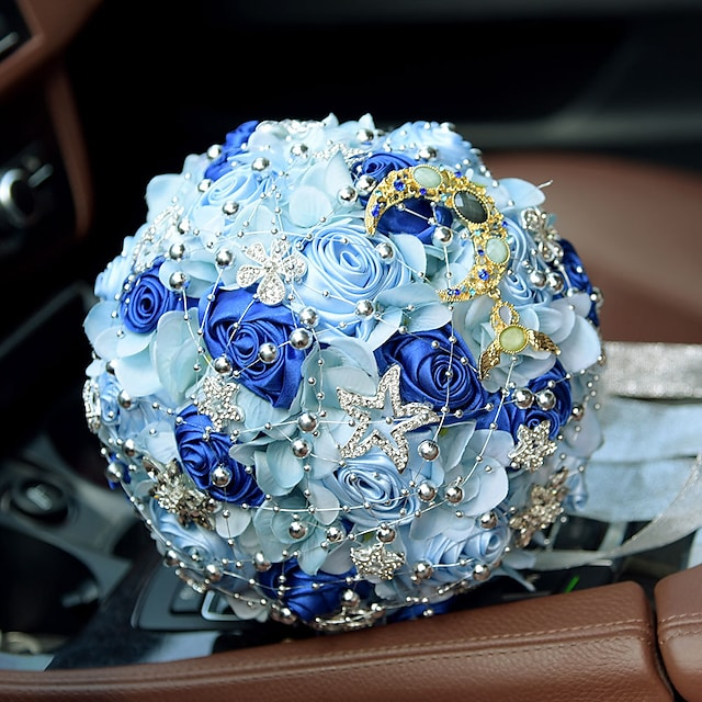 Wedding Flowers Bouquets Wedding Bead / Lace / Silk 11.02