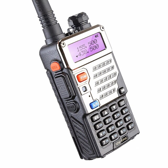 BUV-5RE Walkie-talkie Draagbaar Waarschuwing Laag Batterijniveau Programmeerbaar via pc-software Spraakverzoek Bidirectionele radio 3km-5km 3km-5km 1800 mAh 5 W