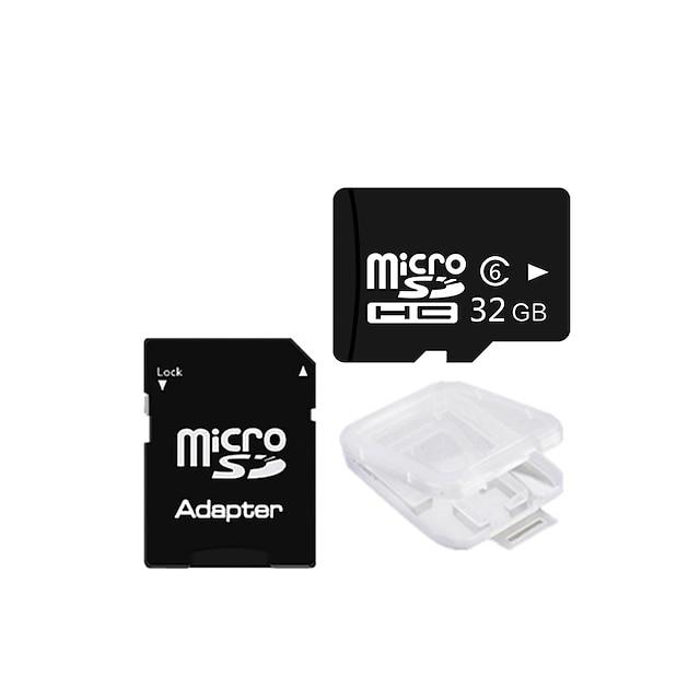 Ants 32gb classe 6 microsdhc tf carte mémoire et microsdhc à sdhc adaptateur carte protecteur boîte