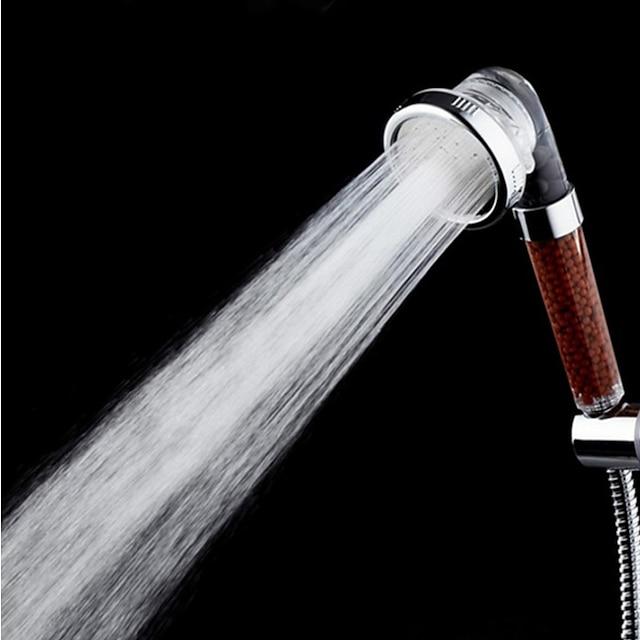 Stainless Steel 3 Mode Ion Filtered Negative SPA High Pressure Rainfall Spray Handheld Adjustable Shower Head