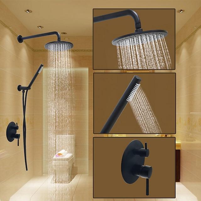 Βρύση Ντουζιέρας Σειρά - Περιλαμβάνεται Τηλέφωνο Ντουζιέρας Ντους βροχής Σύγχρονο Βαμμένα τελειώματα Εσωτερική Βάση Κεραμική Βαλβίδα Bath Shower Mixer Taps / Μονό Χερούλι / Ναι / Ναι / Ορείχαλκος