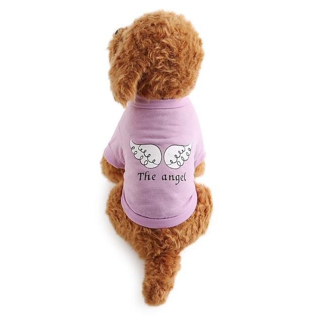 Câine Tricou Literă & Număr Îmbrăcăminte Câini Haine pentru catelus Ținute pentru câini Respirabil Costum pentru fată și câine băiat Bumbac XS S M L