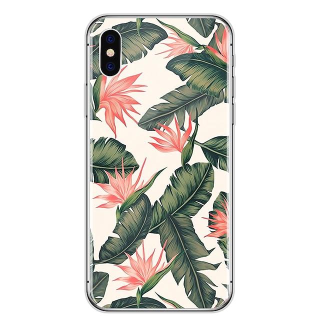tok Για Apple iPhone X / iPhone 8 Plus / iPhone 8 Εξαιρετικά λεπτή / Διαφανής / Με σχέδια Πίσω Κάλυμμα Λουλούδι Μαλακή Καουτσούκ