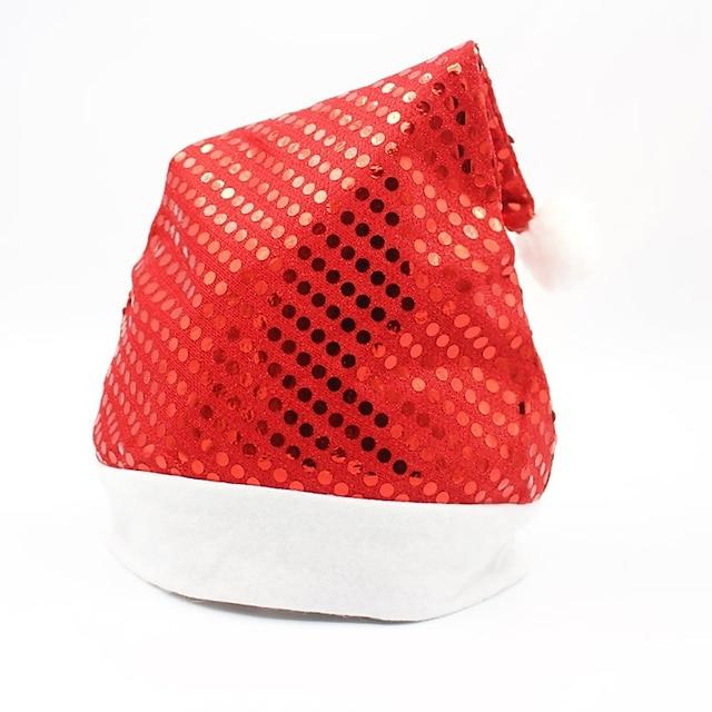 크리스마스 모자 / 산타 클로스 남여 공용 후크시아 / 골든 / 실버 의류 데님 코스프레 악세서리 크리스마스 의상