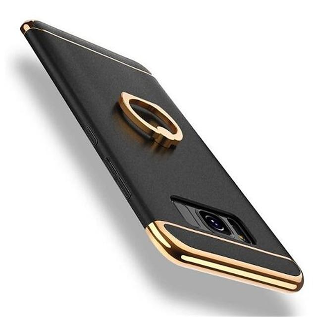 Case Kompatibilitás Samsung Galaxy S8 Plus / S8 360° forgás / Ütésálló / Galvanizálás Fekete tok Egyszínű Kemény PC