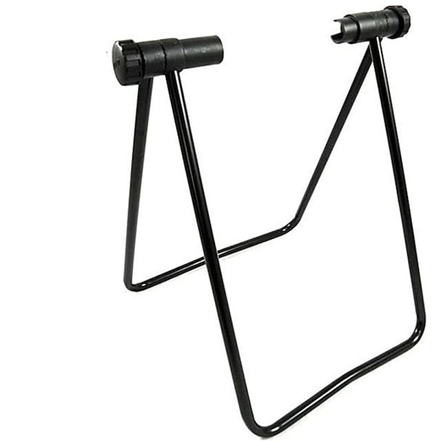 Pyörän kolminkertainen pyörän napa-teline seisoo Säädettävä Taiteltava Kestävä Säilöntä Stand-kaula-aukko Käyttötarkoitus Maantiepyörä Maastopyörä Pyöräily Teräs Musta