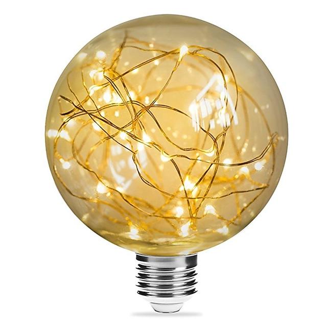 1 pc 3 W Ampoules à Filament LED 200 lm E26 / E27 G95 33 Perles LED SMD Décorative Étoilé Décoration de mariage de Noël Blanc Chaud 85-265 V / RoHs / CE