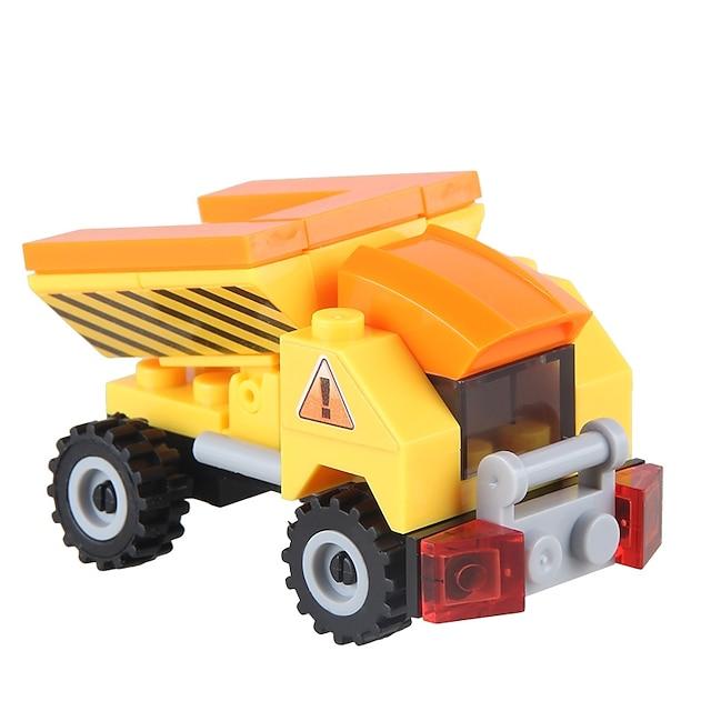 Építőkockák 32 pcs Újdonság Járművek összeegyeztethető ABS Legoing Stressz és szorongás oldására Dekompressziós játékok Szülő-gyermek interakció Rajzfilmfigura Árokásó-rakodó Játékok Ajándék