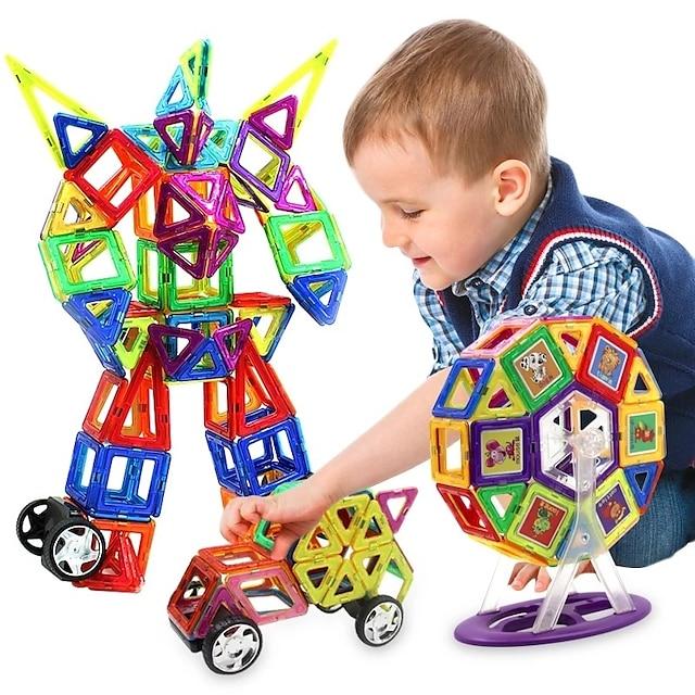 Magnetische blokken Magnetische tegels Bouwblokken Bouwstenen 218 pcs Mensen Voertuigen transformable Speelgoed bouwen Jongens Voor meisjes Speeltjes Geschenk / Kinderen