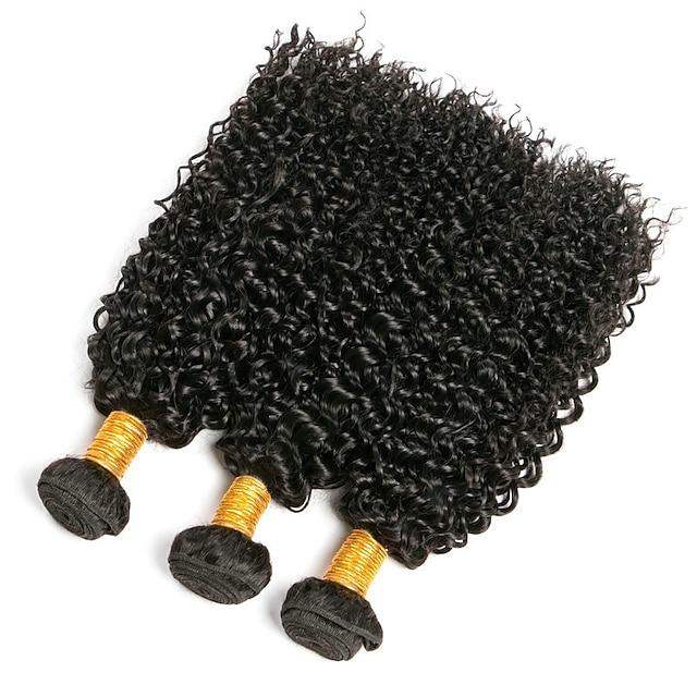 3 svazky Vlasy na vlasy Brazilské vlasy Kinky Curly Rozšíření lidský vlas Přírodní vlasy Lidské vlasy Vazby 8-28 inch / 8A
