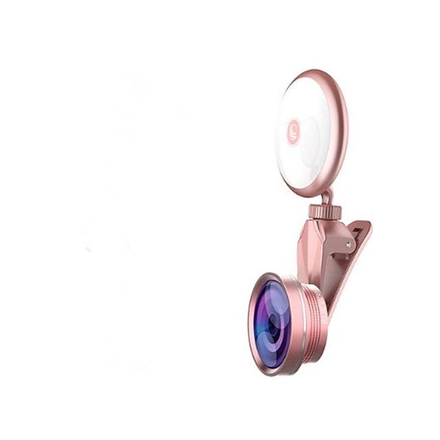 Flash Para Selfie Rotação 360 ° Metal Celular Samsung iPhone 8 Plus / 7 Plus / 6S Plus / 6 Plus
