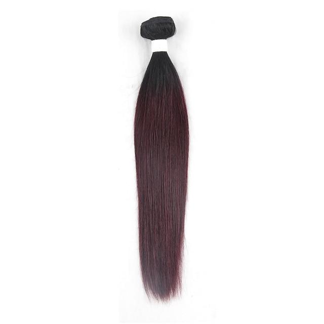 1 pakke Hårvæver Brasiliansk hår Lige Menneskehår Extensions Remy Menneskehår Nuance / Kort / 10A