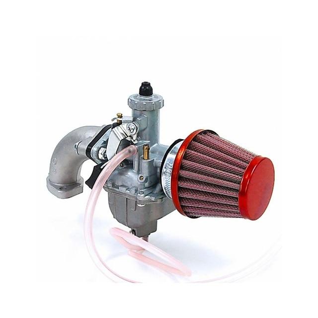 VM22 Red Durable Carb 26MM Manifold Intake Air Filter Set For 110 125CC Honda Pit Bike ATV