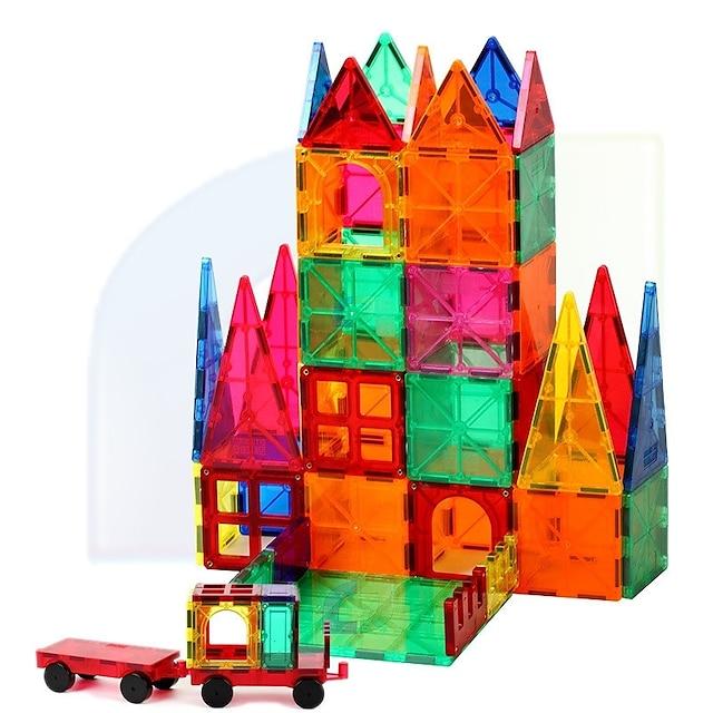 Magnetische blokken Magnetische tegels Bouwblokken 60 pcs Architectuur transformable Vintage Style Jongens Meisjes Speeltjes Geschenk / Kinderen