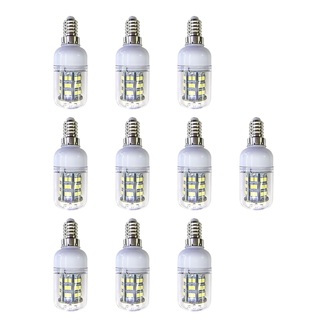10pcs 3 W 240 lm E12 / E14 48 LED perler SMD 2835 LED Lys Hvit 220-240 V
