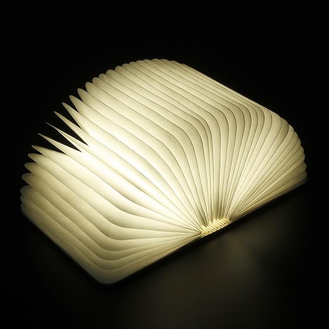 Boek Tafel Nachtlamp Oplaadbaar Vouwbaar Gemakkelijk draagbaar Ingebouwde Li-batterijvoeding 1 stuk
