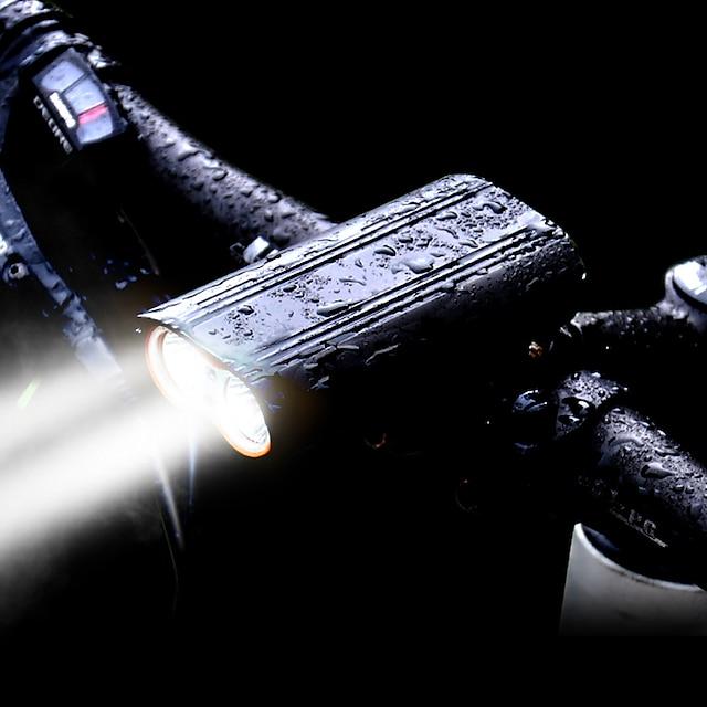LED Pyöräilyvalot Polkupyörän etuvalo LED Maastopyöräily Pyörä Pyöräily Vedenkestävä 360° kierto Useita toimintatiloja Erittäin kirkas 2400 lm Ladattava USB 18650 Valkoinen Pyöräily / Alumiiniseos