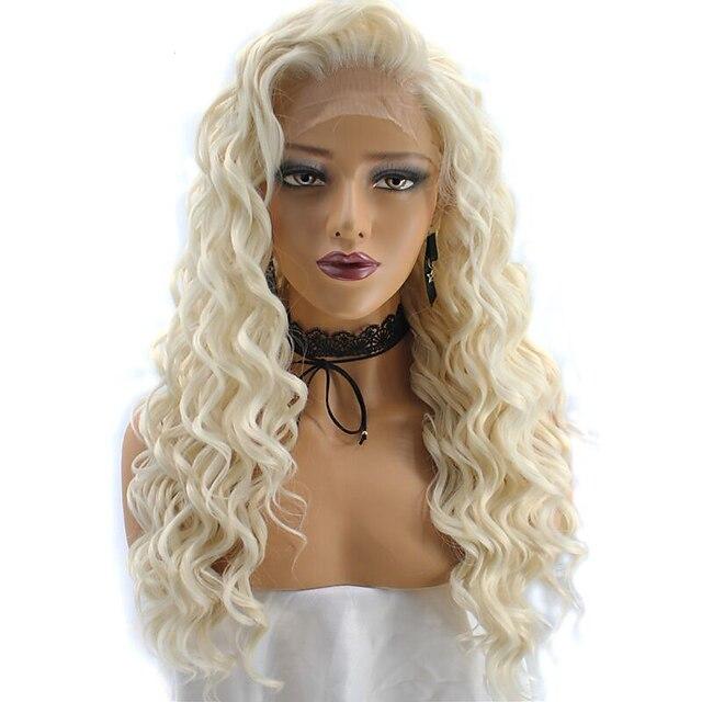 syntetisk parykk kinky krøllete dypbølge kinky krøllete dypbølgede parykker blondt blonde syntetisk hår naturlig hårlinje afroamerikansk parykk blond (ikke-blonder)