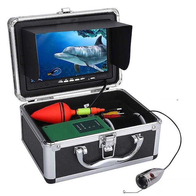30m 1000tvl undervannsfiske videokamera sett 6 stk ledd lys med 7 tommers fargeskjerm