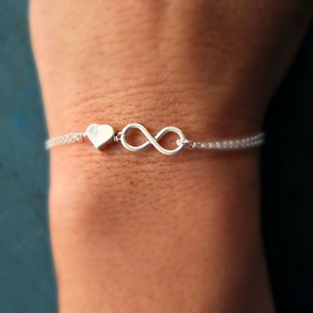Women's Chain Bracelet Charm Bracelet Twisted Heart Love Infinity Dainty Ladies Simple Unique Design Basic Alloy Bracelet Jewelry Gold / Silver For Party Gift Casual Daily