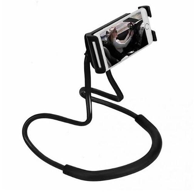 Matkapuhelintelineet Sänky Kirjoituspöytä Matkapuhelin Taiteltava Säädettävä jalusta 360° kierto Säädettävä Urheilu ja ulkoilu 360 ° kääntö PC Matkapuhelinväline iPhone 12 11 Pro Xs Xs Max Xr X 8