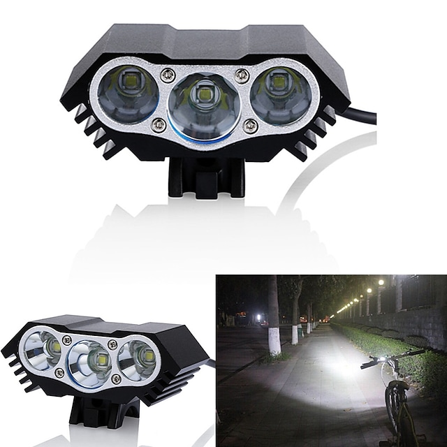 LED Eclairage de Velo Eclairage de Vélo Avant Phare Avant de Moto LED VTT Vélo tout terrain Vélo Cyclisme Imperméable Modes multiples Super brillant Grand angle 18650 3000 lm DC alimenté Cyclisme