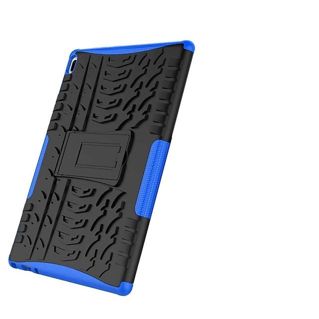 telefon Etui Til Lenovo Bagcover Lenovo Tab 4 10 Stødsikker Med stativ Rustning Flise Rustning Hårdt PC