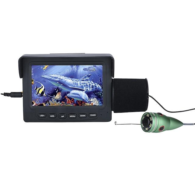 15m 1000tvl hal kereső vízalatti halászat kamera 4.3 lcd monitor 6pcs 1w ir led éjjellátó kamera horgászathoz