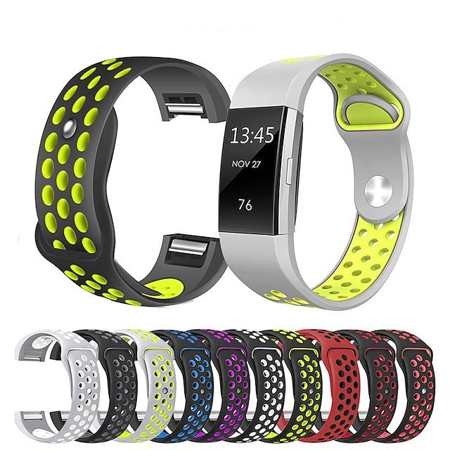 Smartwatch-Band für Fitbit 1 pcs Sportband Silikon Ersatz Handschlaufe für Fitbit Charge 2 20mm