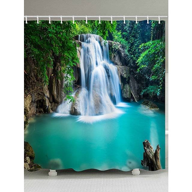 Μπάνιο Κουρτίνες μπάνιου & γάντζοι Καθημερινό Πολυεστέρας Αδιάβροχη