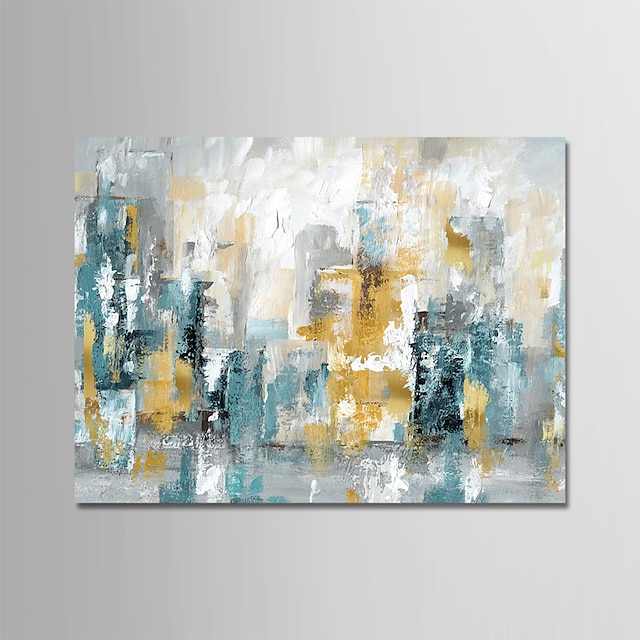 Oil Painting Hand Painted Horizontal Abstract Modern Rolled Canvas (No Frame)