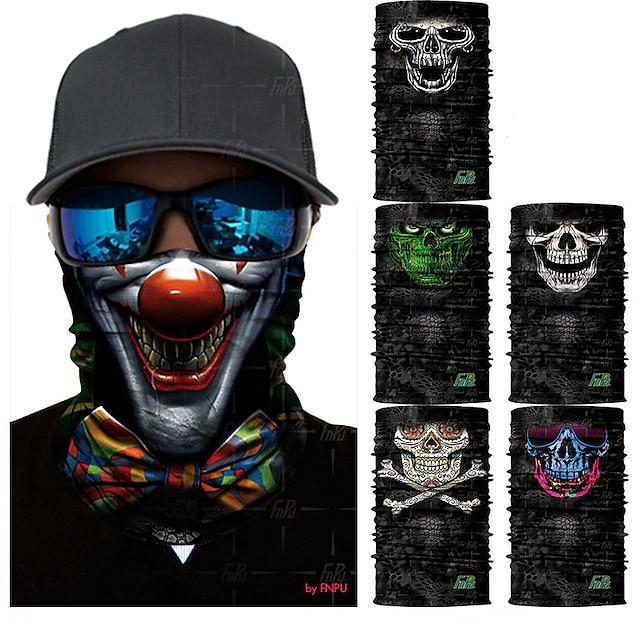 Yüz Maskesi Ultravioleye Karşı Dayanıklı Hızlı Kuruma Bakterileri Kısıtlar Bisiklet / Bisiklet Çok Renkli Beyaz Siyah için Kadın's Erkek Yetişkin Yol Bisikletçiliği Yürüyüş Bisiklete biniciliği