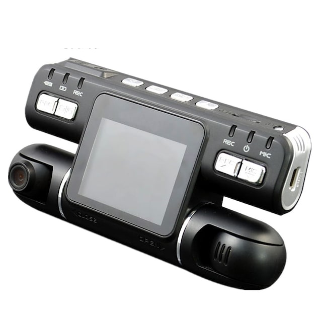 F105 1080p Vision nocturne / Surveillance à 360 ° / Lentille double DVR de voiture 120 Degrés Grand angle CMOS 2.7 pouce LCD Dash Cam avec Détection de Mouvement Non Enregistreur de voiture