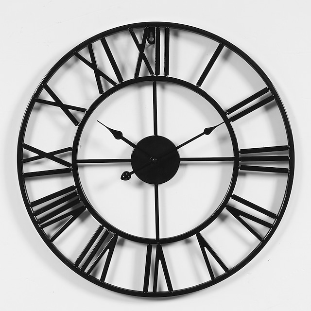 Designed in China / Rustic Rhodium Plated / Metal Round Sports / Holiday Indoor / Outdoor / Indoor / Outdoor AA Battery Decoration Wall Clock Yes Others / Specification No 50cm*50cm