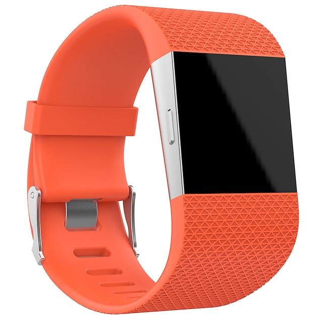 Умный ремешок для часов для Фитбит 1 pcs Классическая застежка силиконовый Замена Повязка на запястье для Fitbit Surge