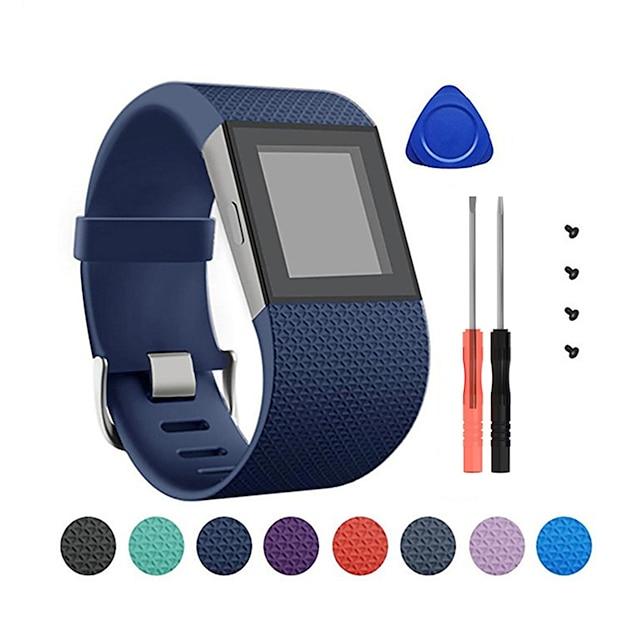 להקת שעונים חכמה ל פיטביט 1 pcs אבזם קלאסי סיליקוןריצה תַחֲלִיף רצועת יד לספורט ל נחשול פיטביט