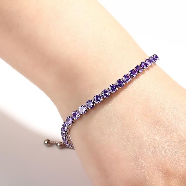 Women's Burgundy Charm Bracelet Tennis Bracelet Alloy Bracelet Jewelry Purple / Red / Pink For Daily