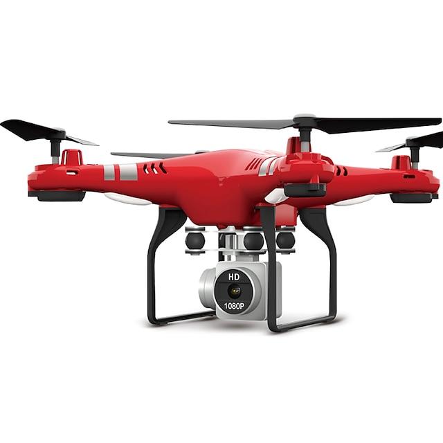 RC Drone X52HD RTF 4CH 6 Eixos 2.4G Com Câmera HD 3.0MP 1080P Quadcópero com CR FPV / Retorno Com 1 Botão / Modo Espelho Inteligente Quadcóptero RC / Controle Remoto / Câmera