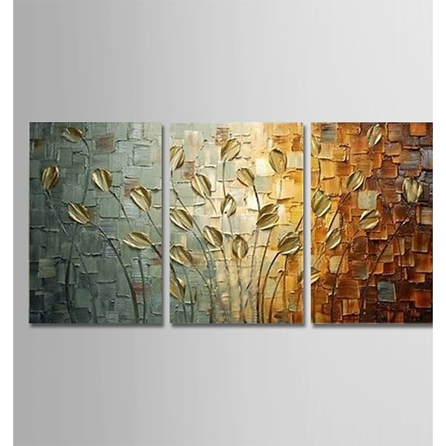 Oil Painting Handmade Hand Painted Wall Art Plant Flower Home Decoration Décor Stretched Frame Ready to Hang