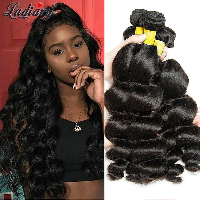 3 Bundles / กลุ่ม ผมสาน ผมมองโกลเลีย Wavy ส่วนขยายของผมมนุษย์ ผม Remy 100% Remy Hair Weave Bundles 300 g มนุษย์ผมสาน ผมต่อแท้ 8-28 inch สีธรรมชาติ ธรรมชาติดำ การปลดปล่อยฟรี Tangle Free / 8A
