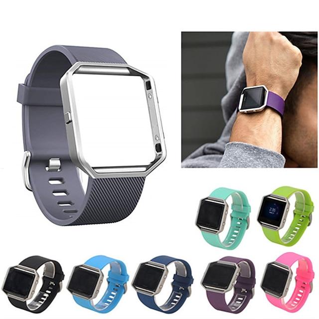 สมาร์ทวอทช์แบนด์ สำหรับ Fitbit 1 pcs สายยางสำหรับเส้นกีฬา ยางทำจากซิลิคอน เปลี่ยน สายห้อยข้อมือ สำหรับ Fitbit Blaze