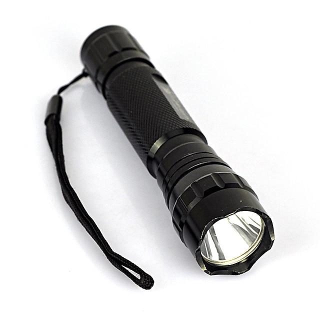 Lampes Torches LED 2000 lm LED LED Émetteurs 1 Mode d'Eclairage Portable Professionnel Antichocs Poids Léger Camping / Randonnée / Spéléologie Usage quotidien Cyclisme Noir
