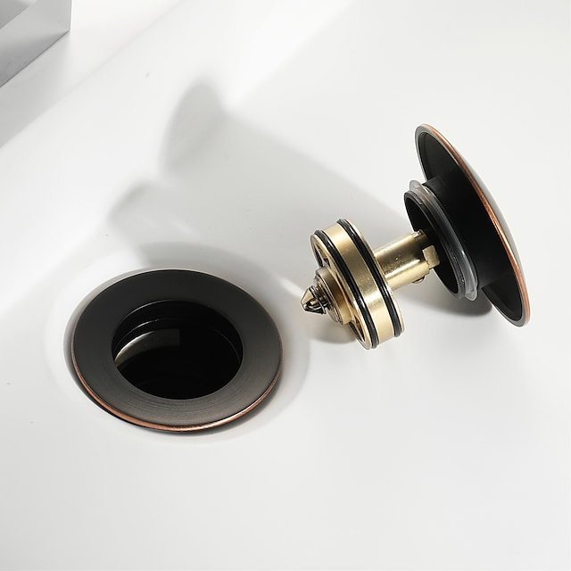 Accessorio rubinetto - Qualità superiore Scarico dell'acqua a scomparsa con troppopieno Moderno Ottone Olio dibronzo lucidato
