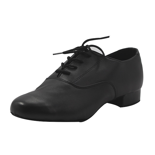 Boys' Modern Shoes Heel Thick Heel Black Lace-up